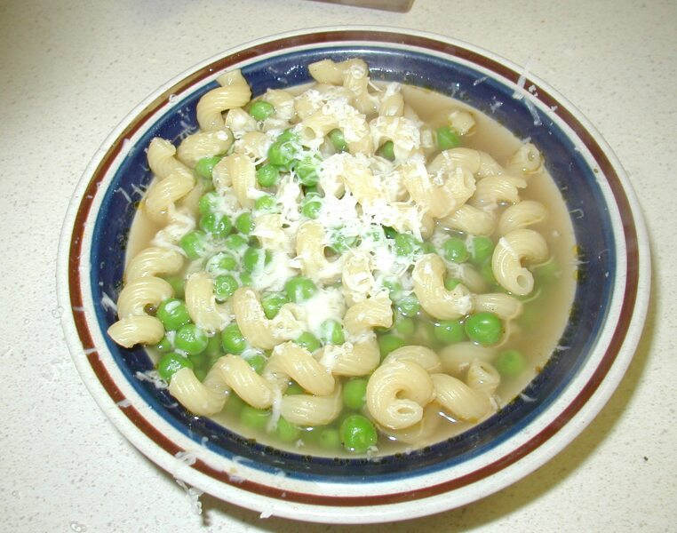 very pleased with how good the broth tasted. The pasta and the peas ...