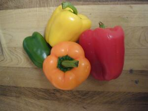 The colorful peppers